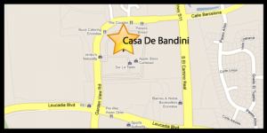 Map to Casa de Bandini