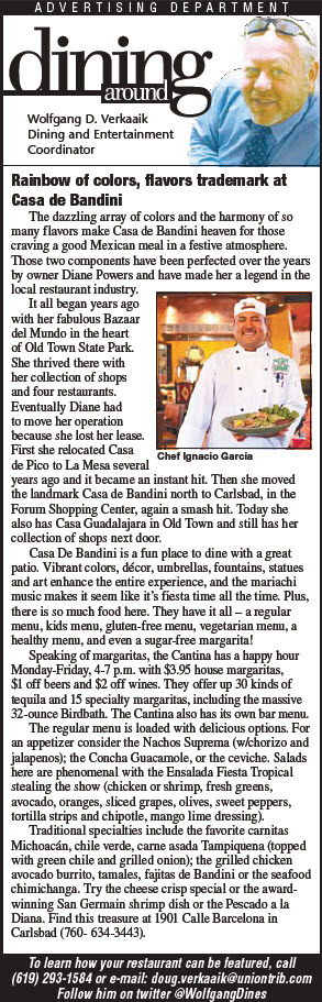 casa de bandini ut article