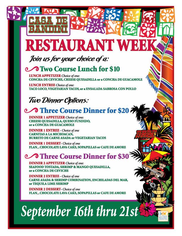 Casa de Bandini Restaurant Week September 2012