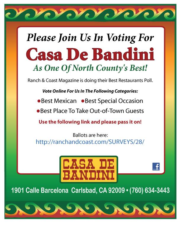 Casa de Bandini Ranch and Coast Magazine