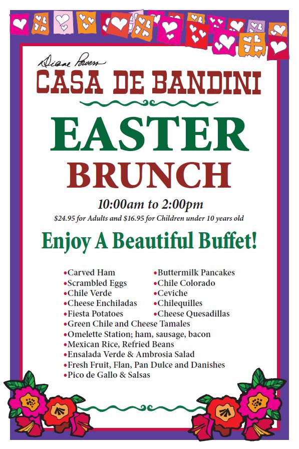 Casa de Bandini - Brunch Poster